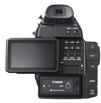 EOS C100 BCK LCD OPEN