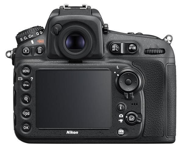 Nikon D810 tyl