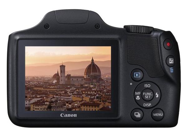 Canon PowerShot SX520 HS tyl