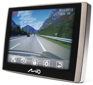 Wideorejestrator z GPS Mio Combo 5107 LM