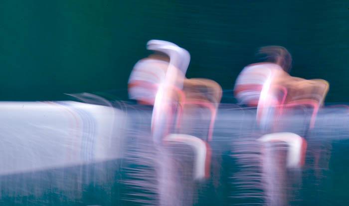 Wiktor Chabel i Michał Słoma w konkurencji dwójek podwójnych podczas Mistrzostwa Świata na jeziorze Rotsee, Szwajcaria, 2010. Fot. © Adam Nurkiewicz / Mediasport. Wszelkie prawa zastrzeżone.