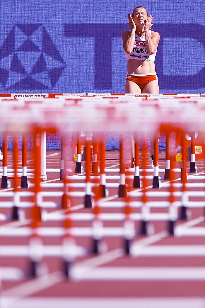 Karolina Tymińska, 100 metrów przez płotki, Mistrzostwa Świata w Lekkiej Atletyce, Pekin, 2015. Fot. © Adam Nurkiewicz / Mediasport. Wszelkie prawa zastrzeżone.
