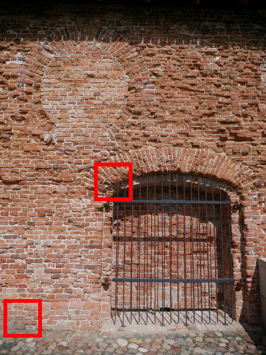Kadr do oceny szczegółowości obrazu zooma standardowego przy ogniskowej  12 mm.
