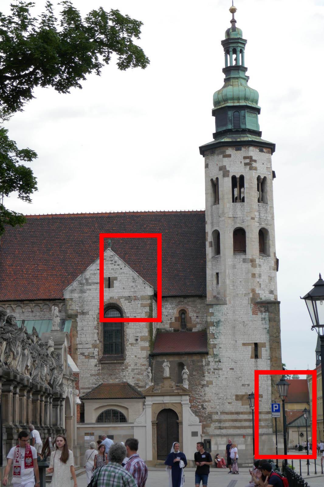 Kadr do prezentacji szczegółowości obrazu przy ogniskowej  25 mm itrzech przymknięciach przysłony.